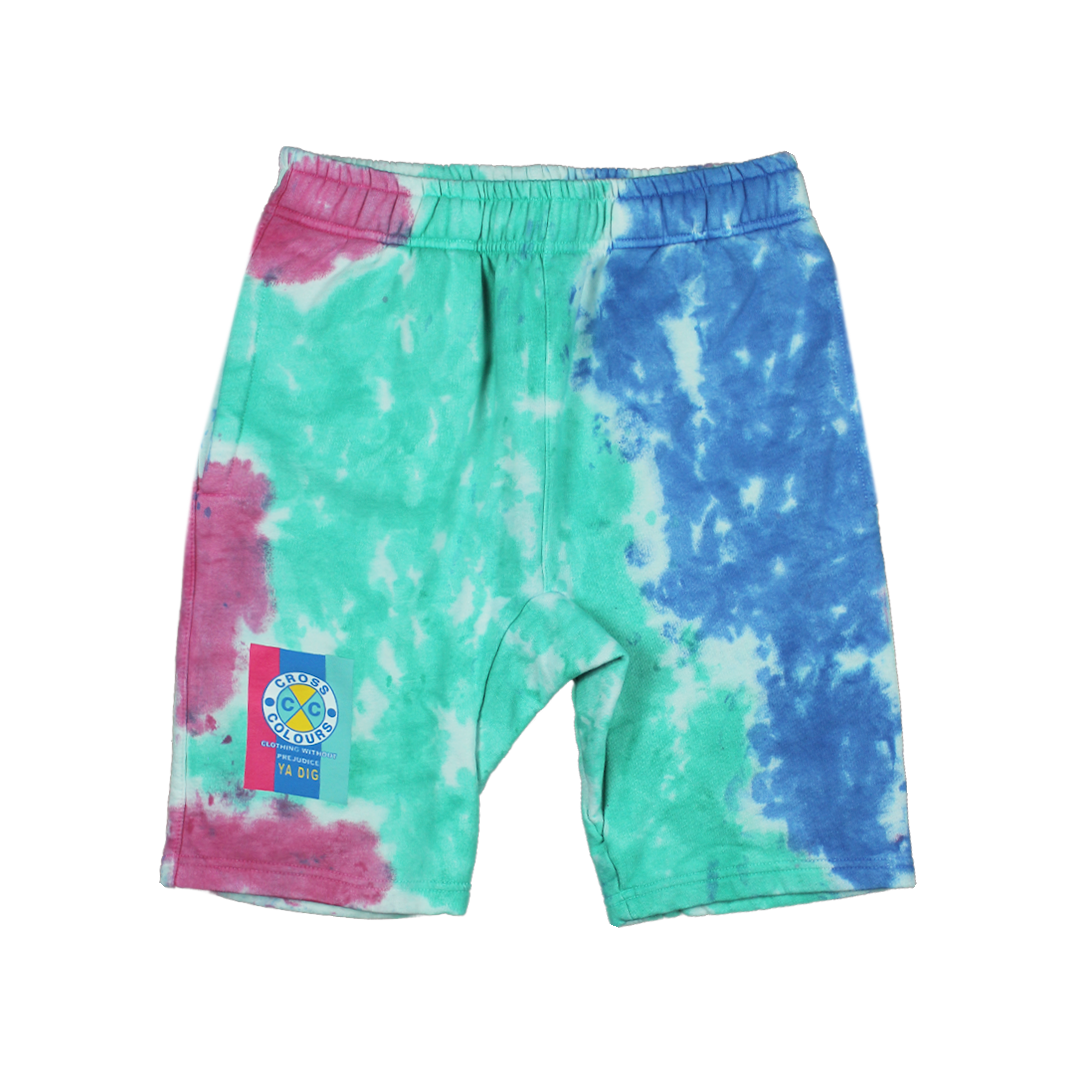 Cross Colours Flag Logo Short - Tie Dye