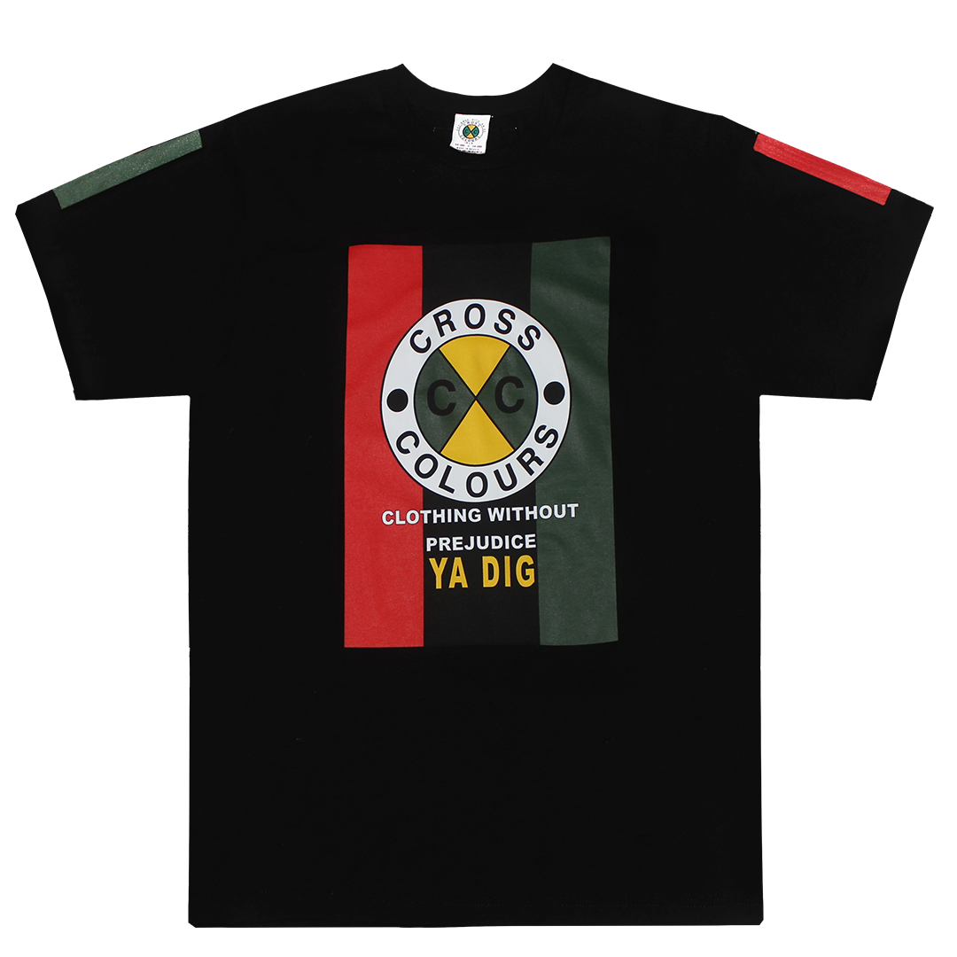Cross Colours Flag Logo T-Shirt - Black