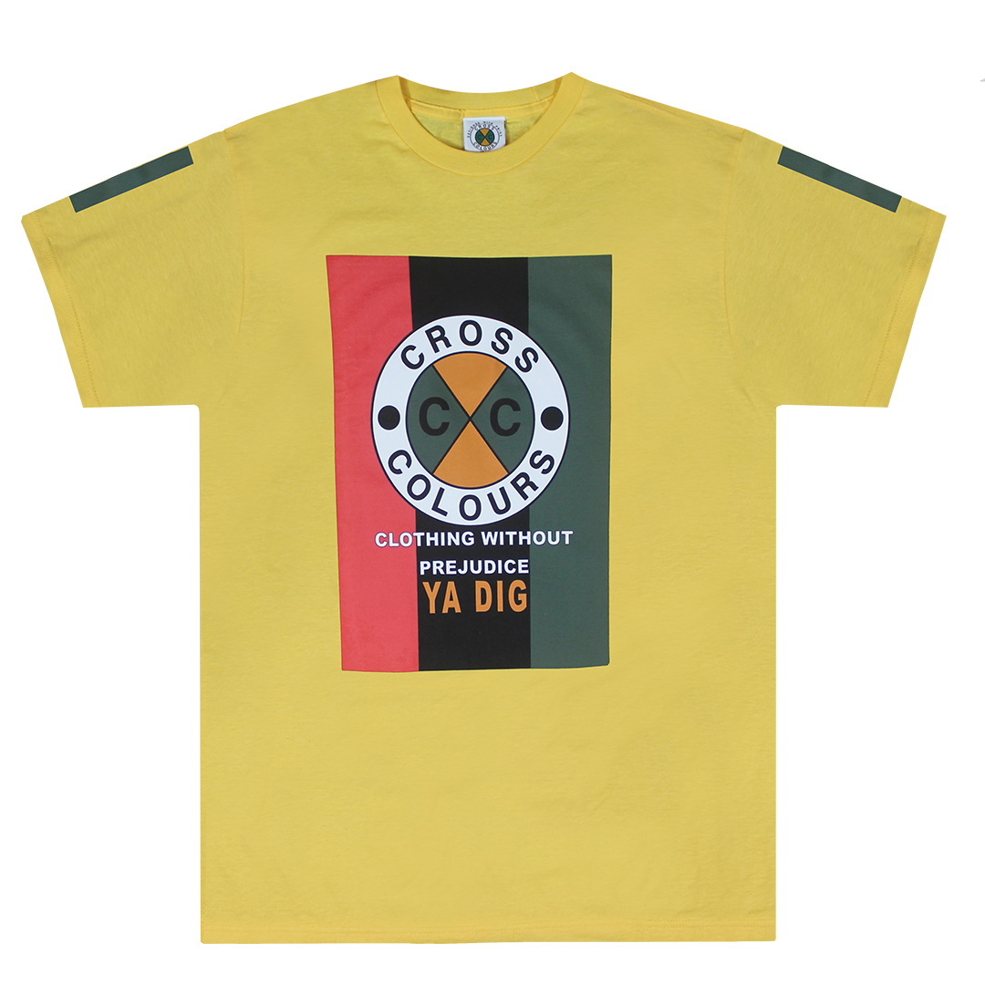 Cross Colours Flag Logo T-Shirt - Yellow