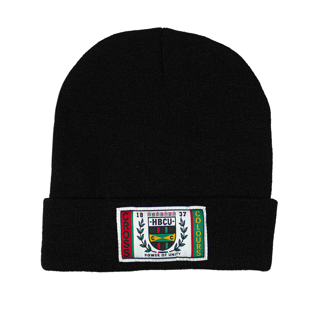 Cross Colours HBCU Flag Beanie - Black