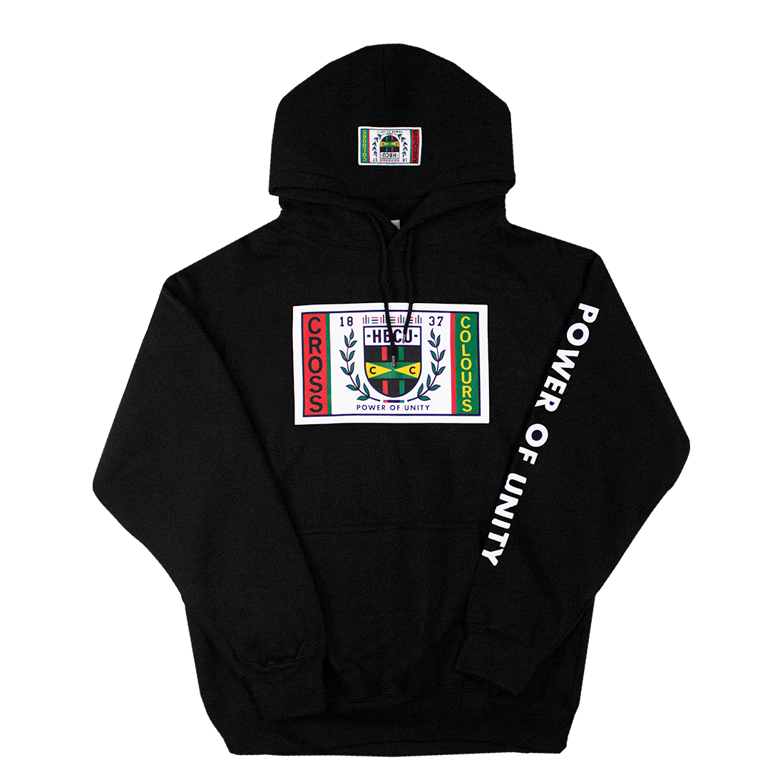 Cross Colours HBCU Flag Hoodie - Black