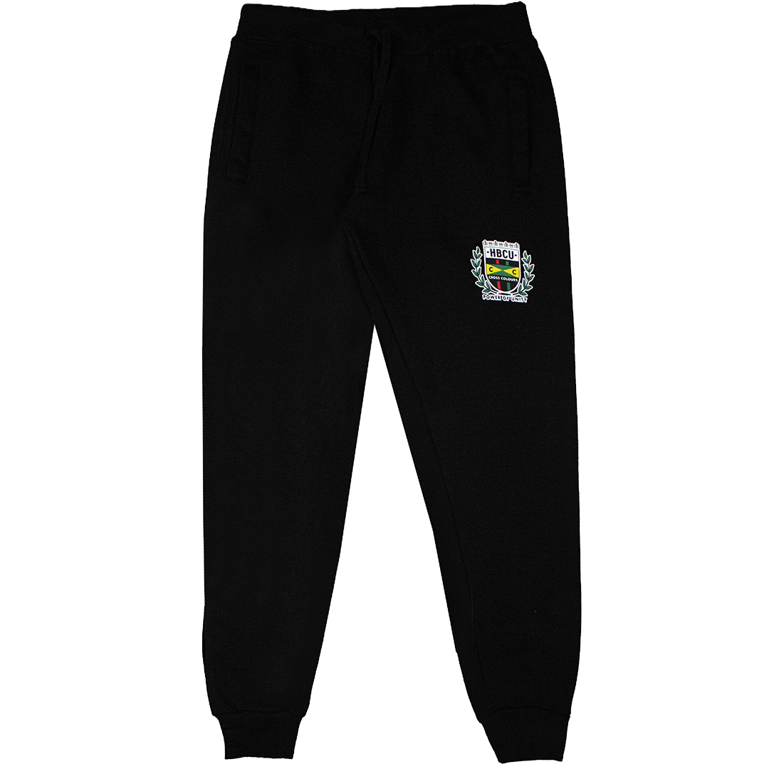 Cross Colours HBCU Flag Sweatpant - Black