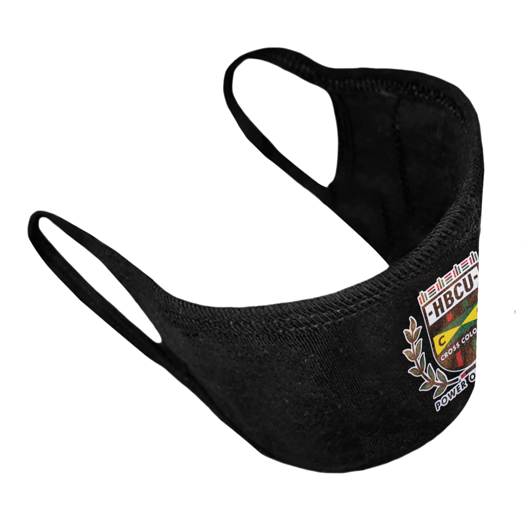Cross Colours HBCU Flag Face Mask - Black