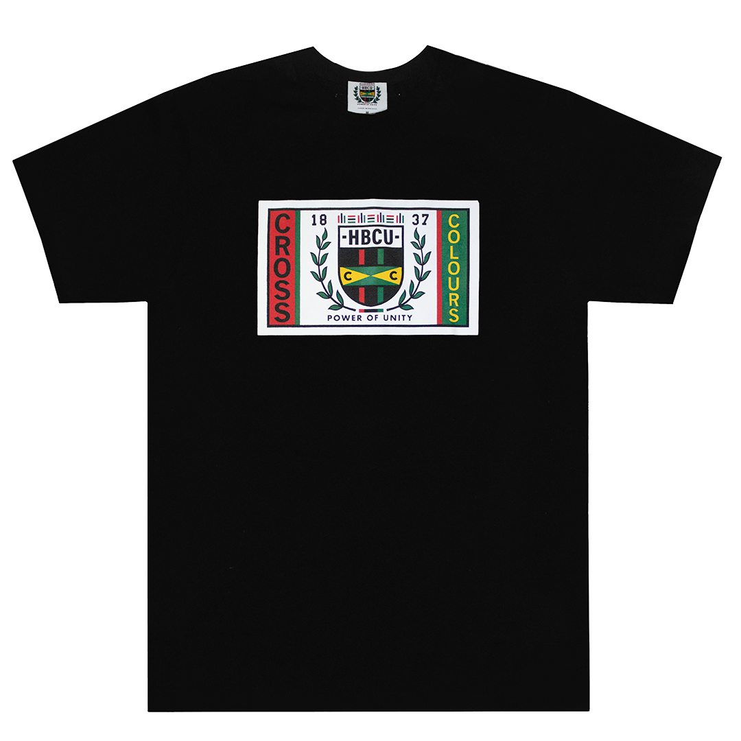 Cross Colours HBCU Flag T-Shirt - Black