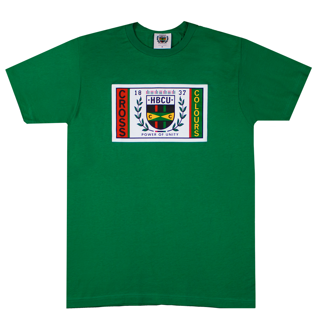 Cross Colours HBCU Flag T-Shirt - Green