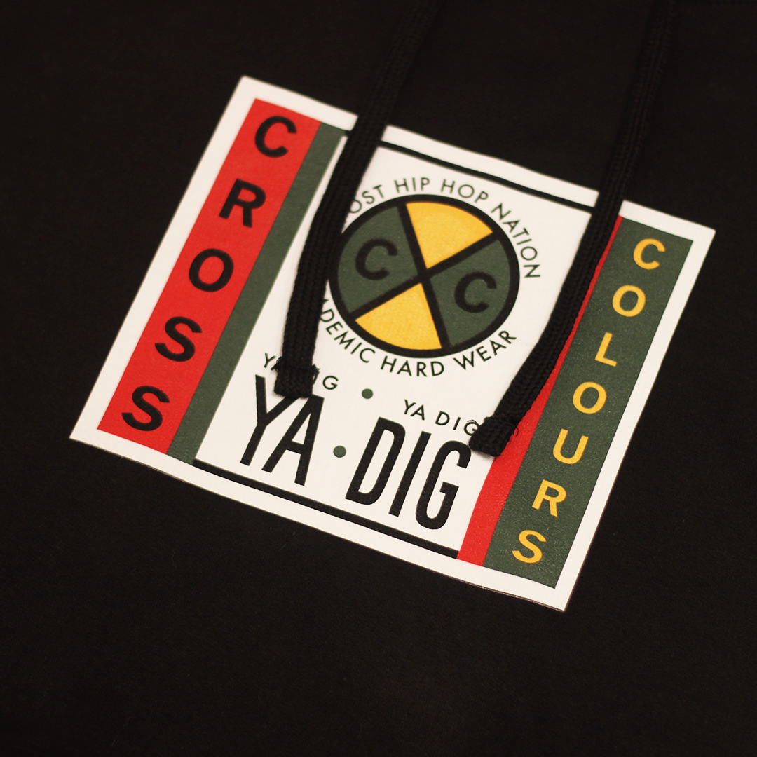 Cross Colours Label Logo Hoodie - Black