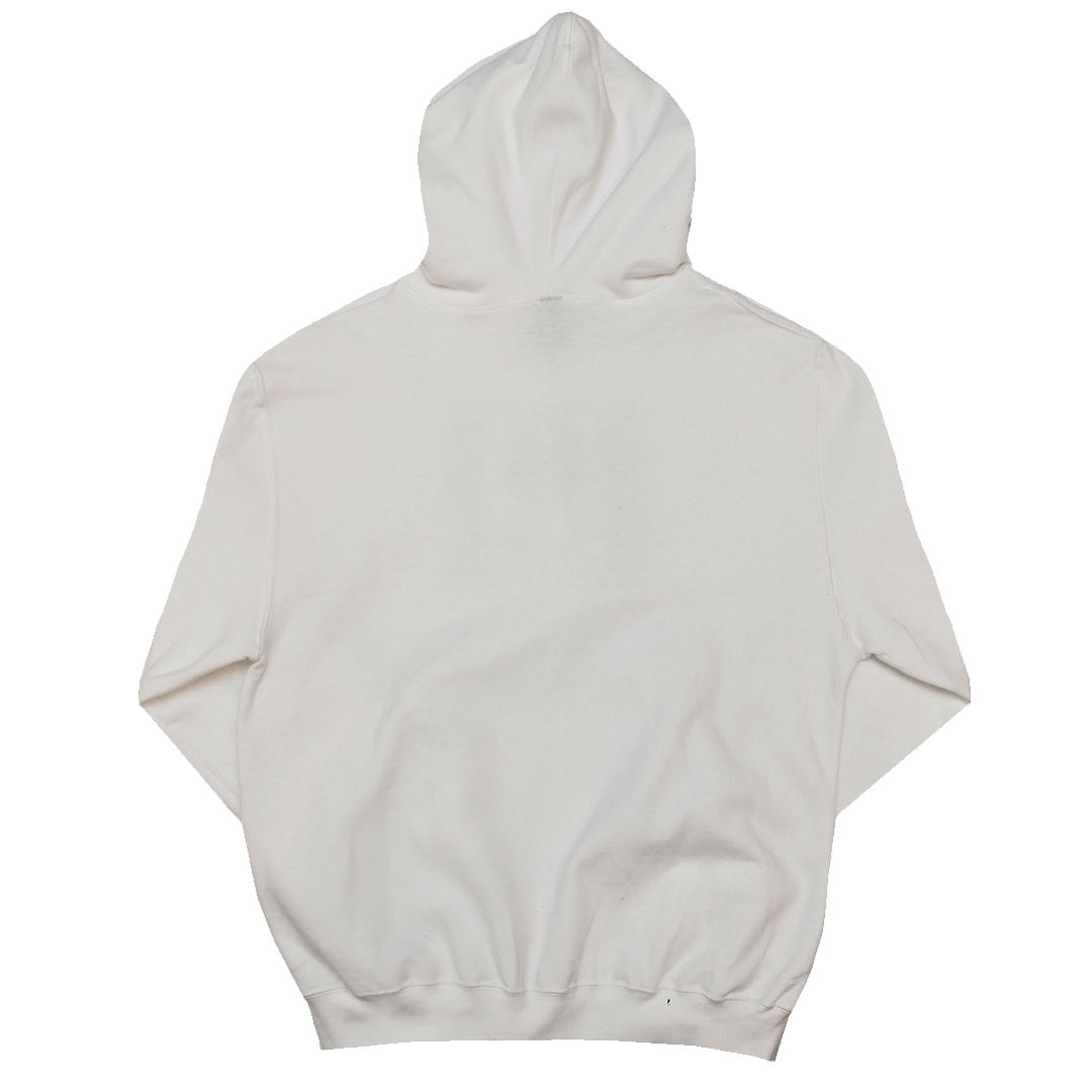 Cross Colours Label Logo Hoodie - White