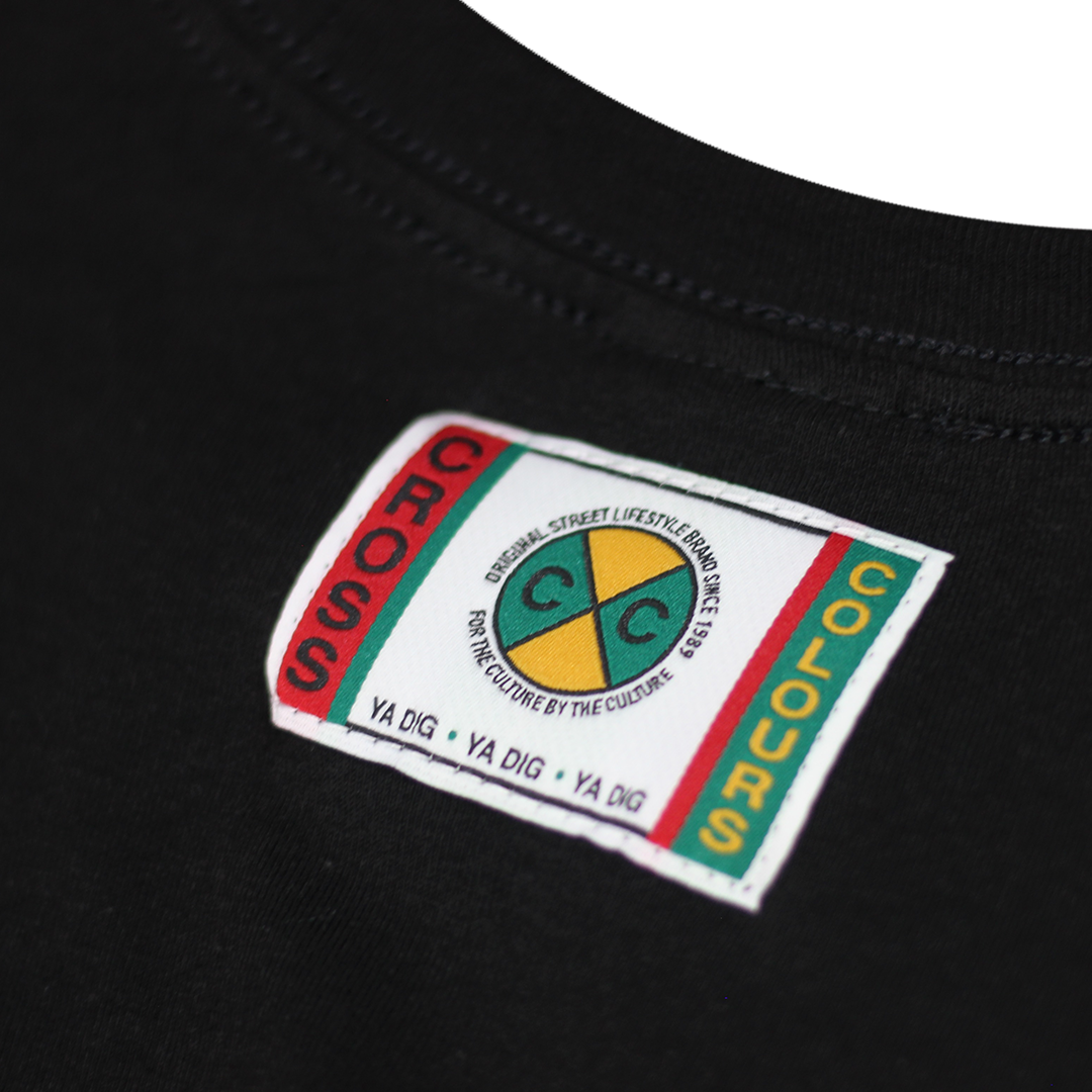 Cross Colours Label Logo L/S T-Shirt - Black