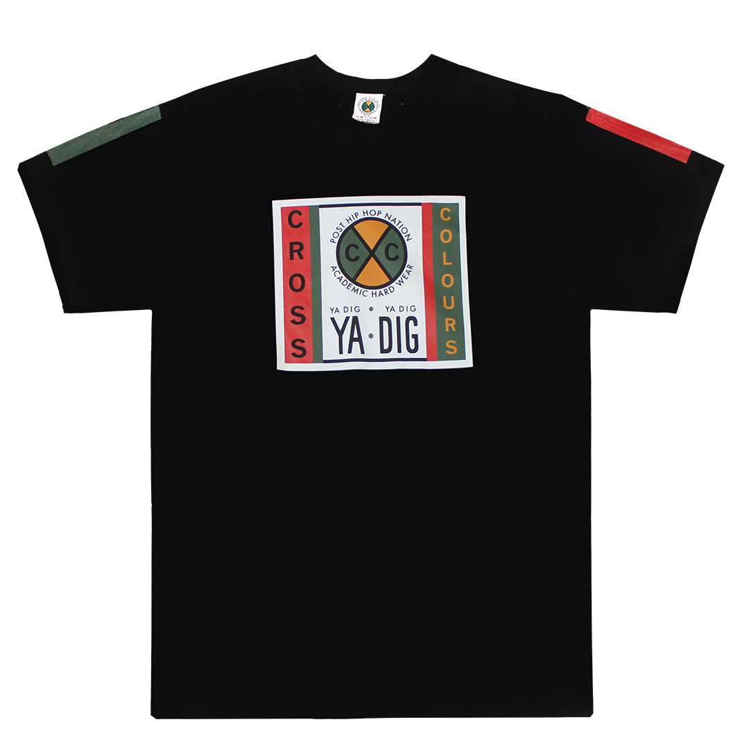 Cross Colours Label Logo T-Shirt - Black