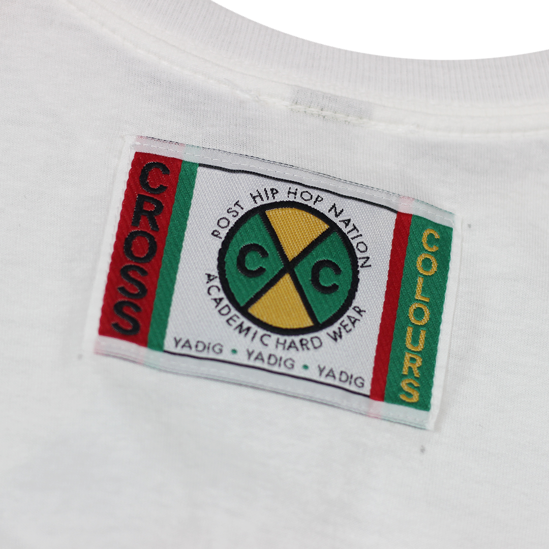 Cross Colours Label Logo T-Shirt - White