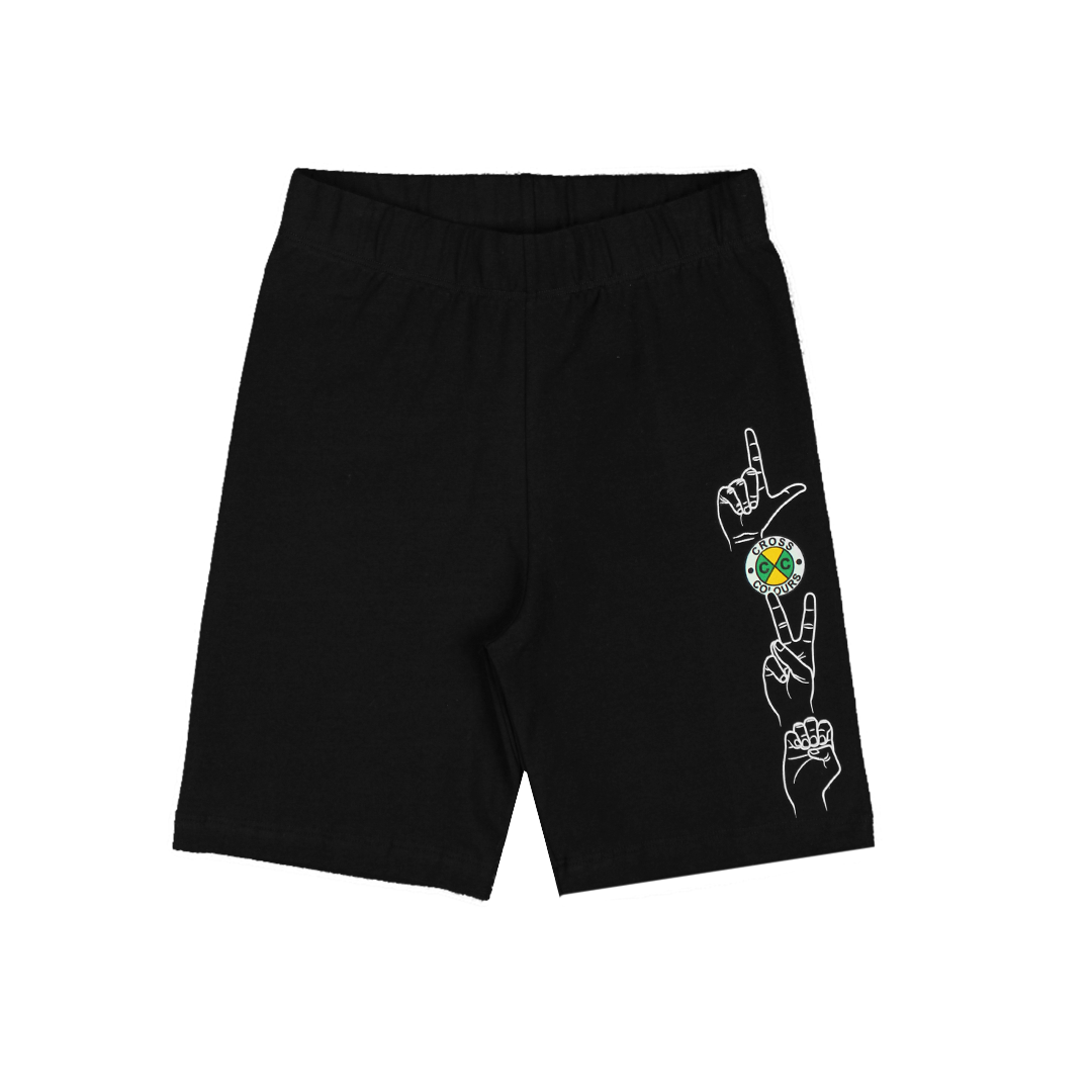Cross Colours Love Biker Short - Black