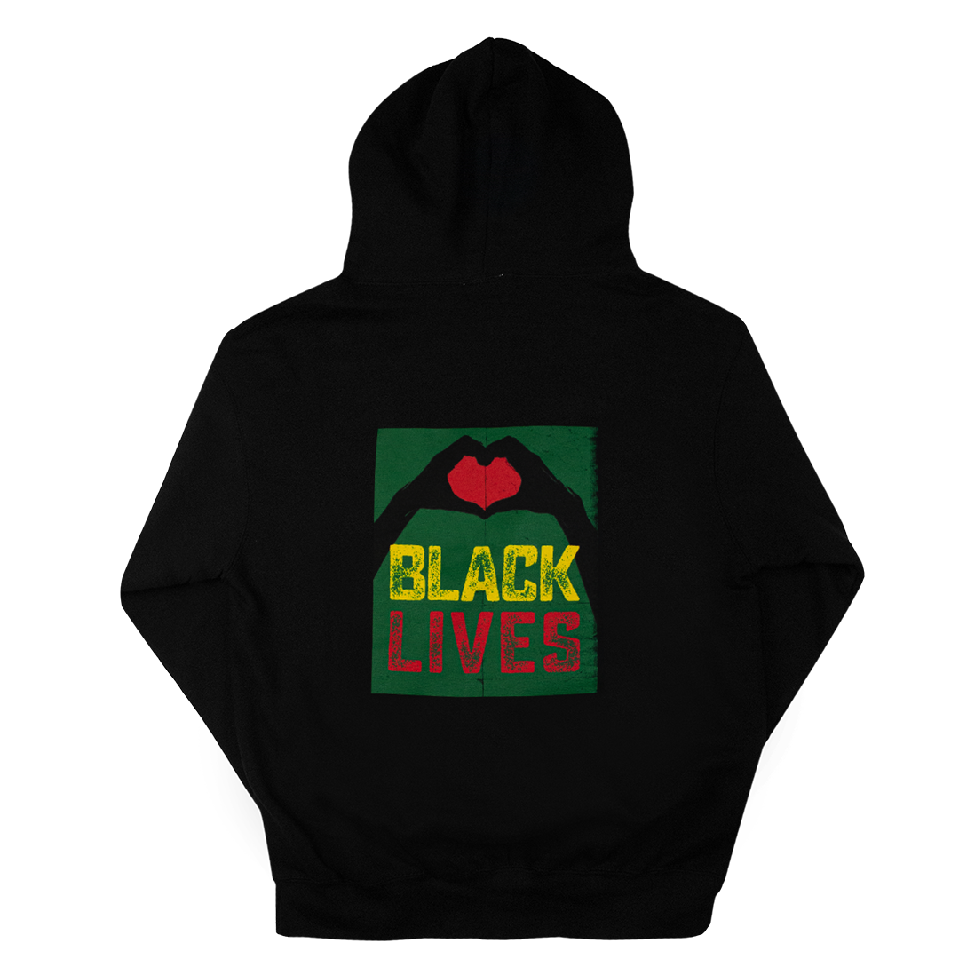 Cross Colours Love Black Lives 2 Hoodie - Black