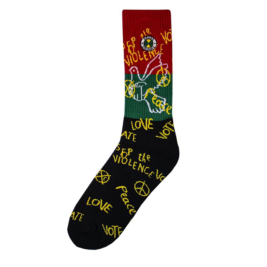 Cross Colours Without Prejudice Crew Socks - Multi