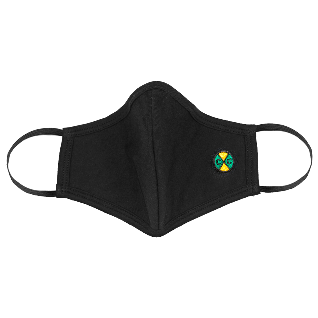 Cross Colours Face Mask with Nose Clip - Black