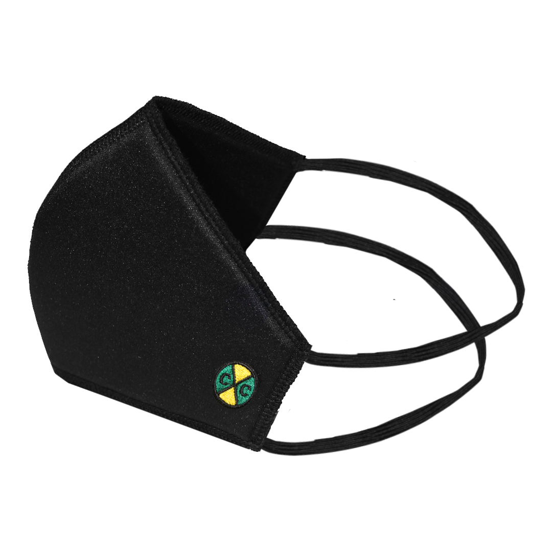 Cross Colours Padded Face Mask with Straps - Black
