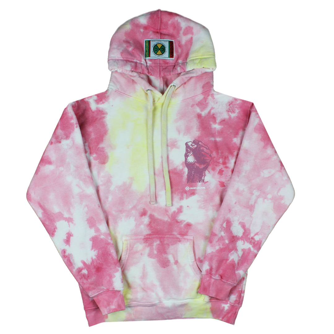 Cross Colours Power To The People Hoodie - Tie Dye