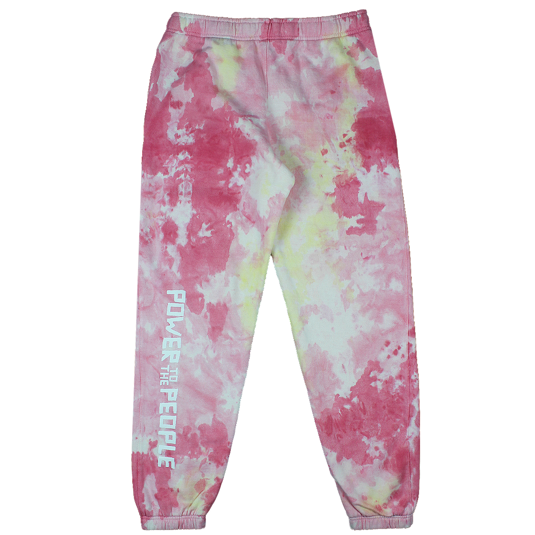 Cross Colours Power To The People Sweatpant - Tie Dye