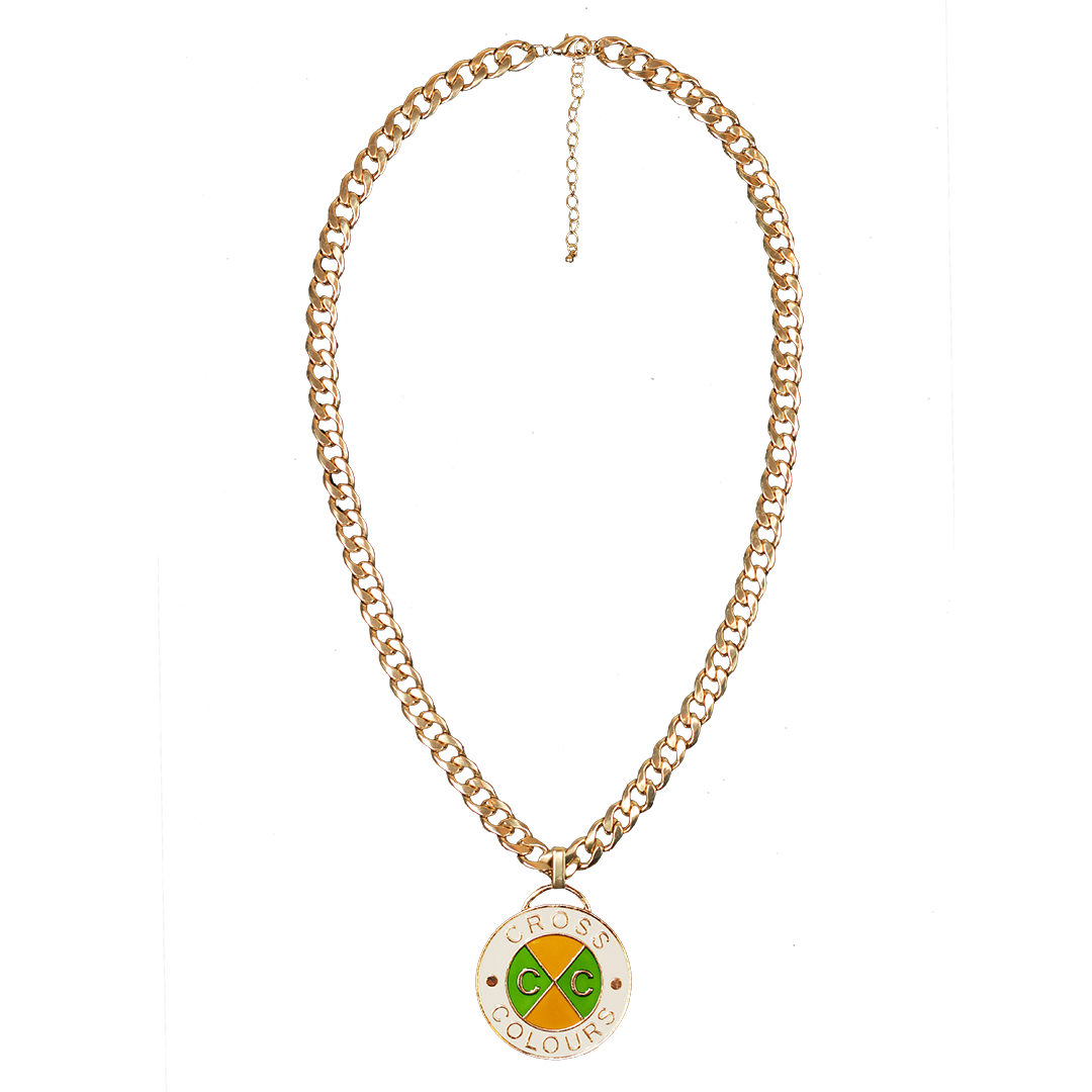 Cross Colours Retro Medallion - Gold/Green