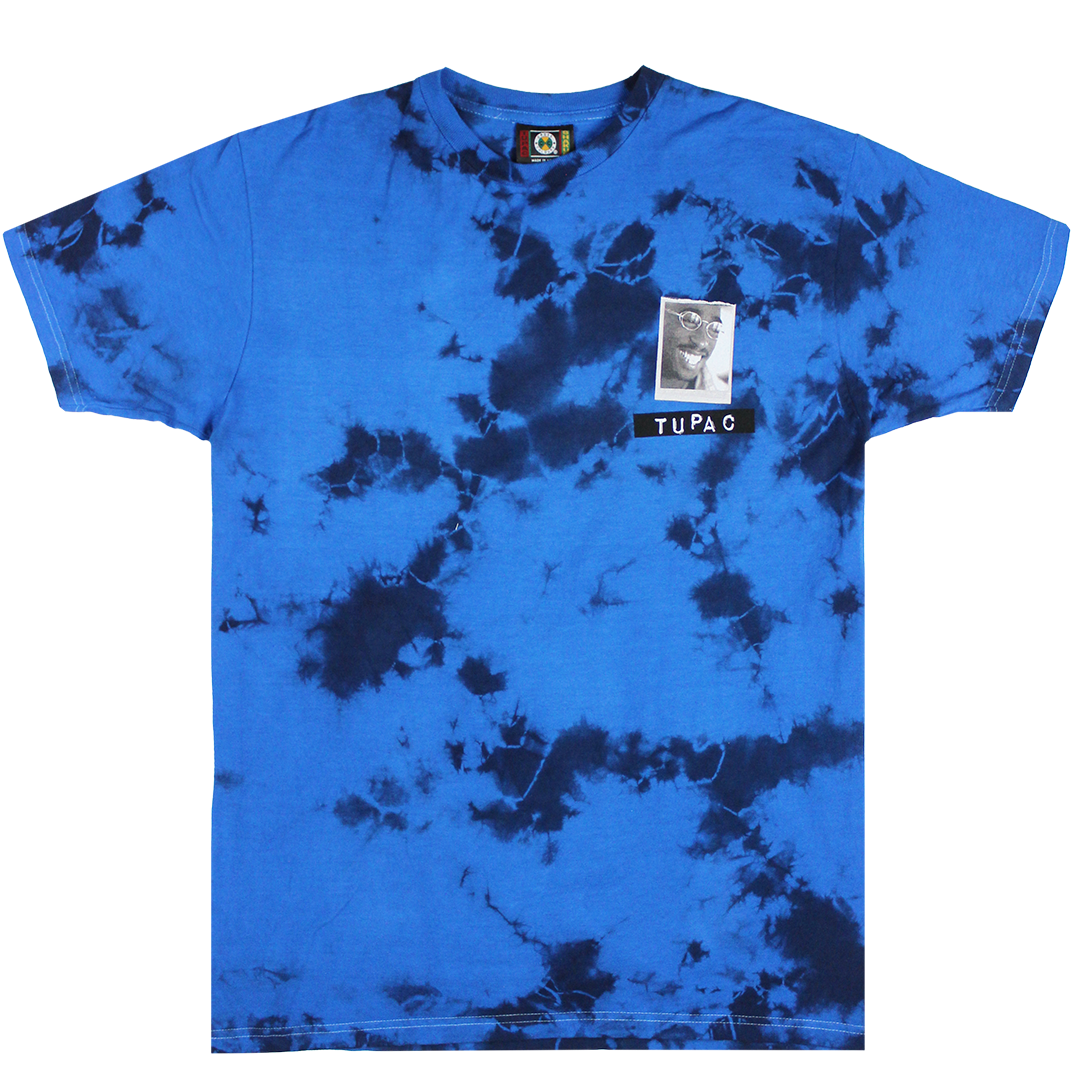 Cross Colours Tupac All Smiles T Shirt - Blue