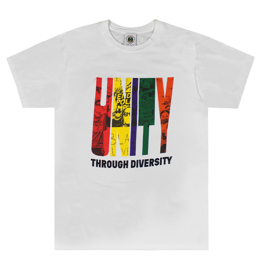 Cross Colours Unity Through Diversity T Shirt - White