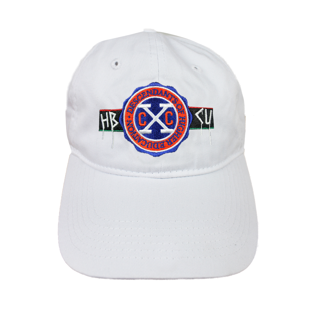 Cross Colours X HBCU Dad Hat - White