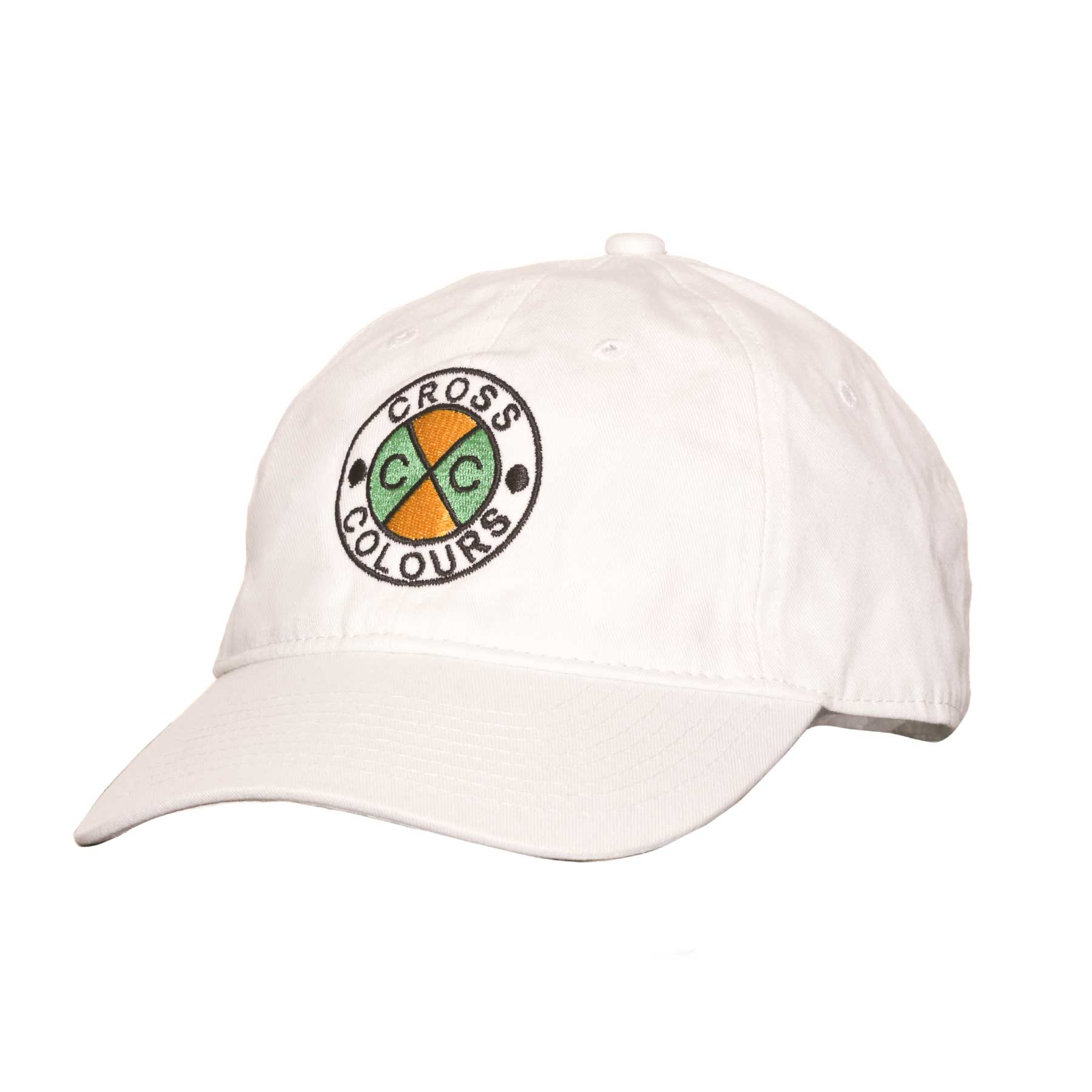 Cross Colours Classic Embroidered Dad Hat - White