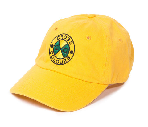 Cross Colours Classic Embroidered Dad Hat - Yellow