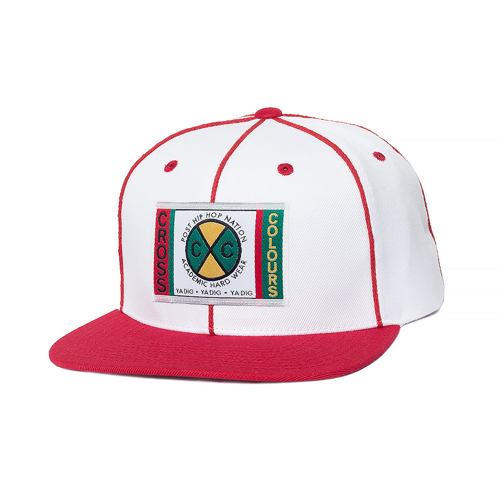 Cross Colours Soutache Snapback - White/Red