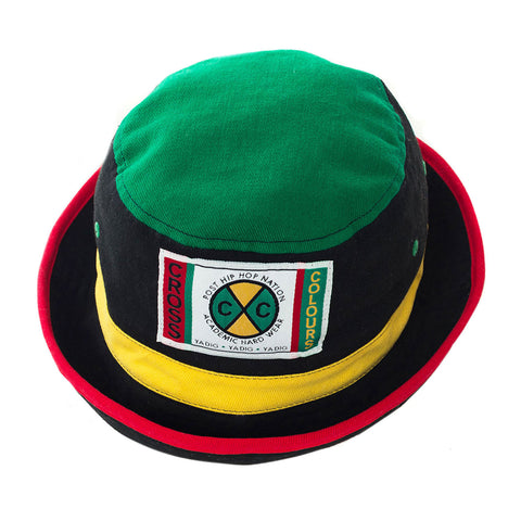 Cross Colours Color Block Bucket Hat - Multi