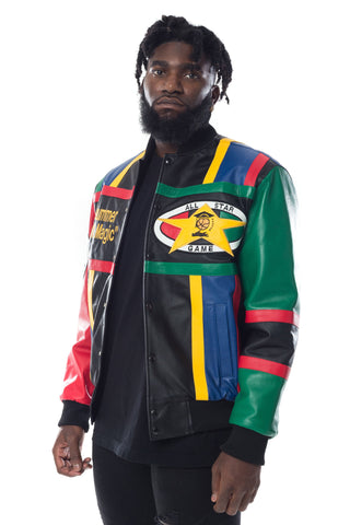 Cross Colours Midnight Summers Magic Leather Jacket - Multi