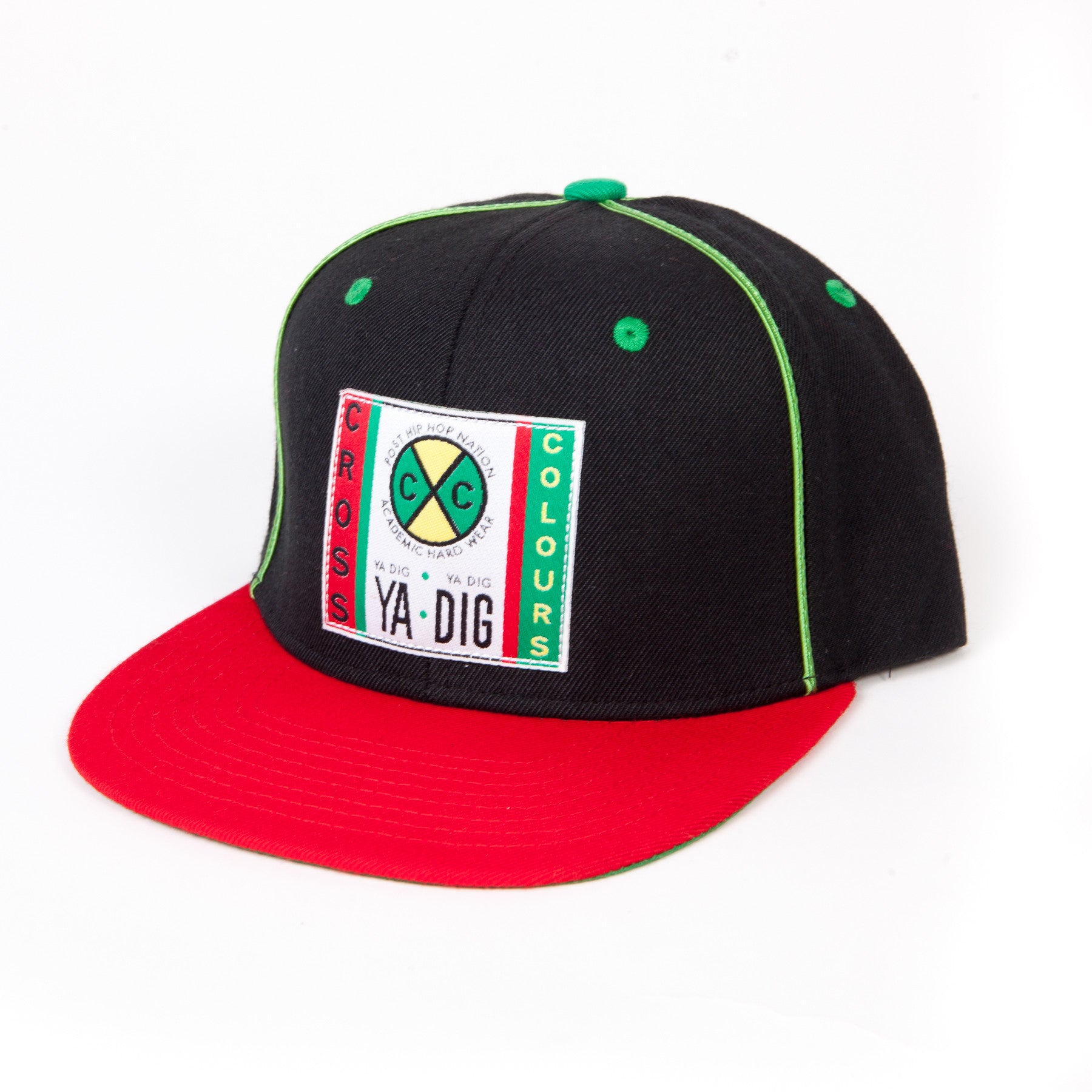 Cross Colours Soutache Snapback - Black/Red/Green
