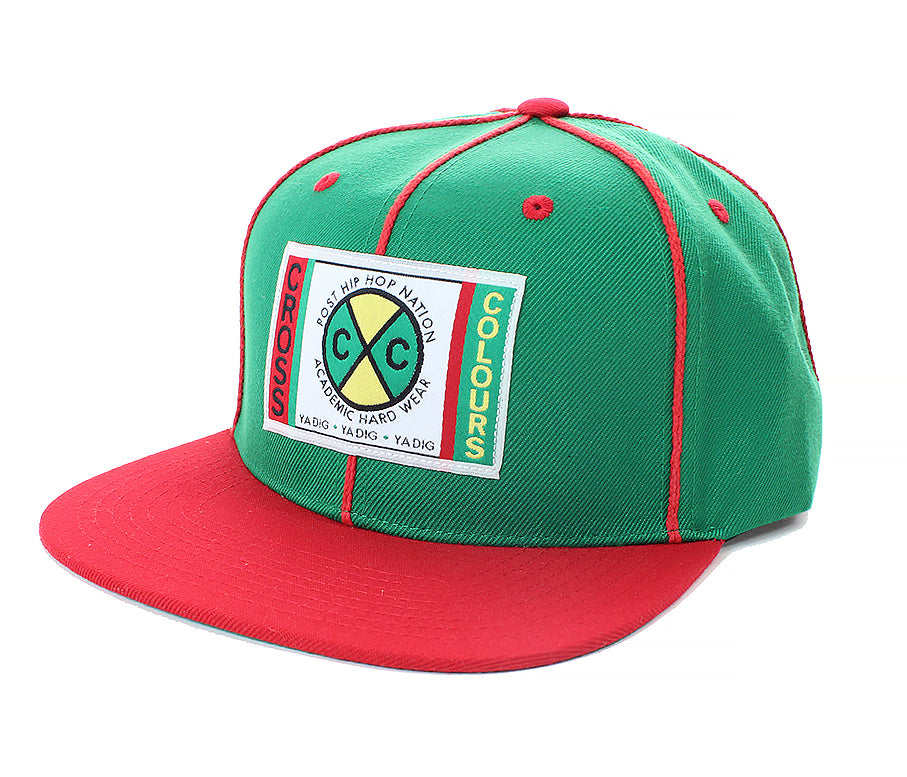 Cross Colours Soutache Snapback - Green/Red