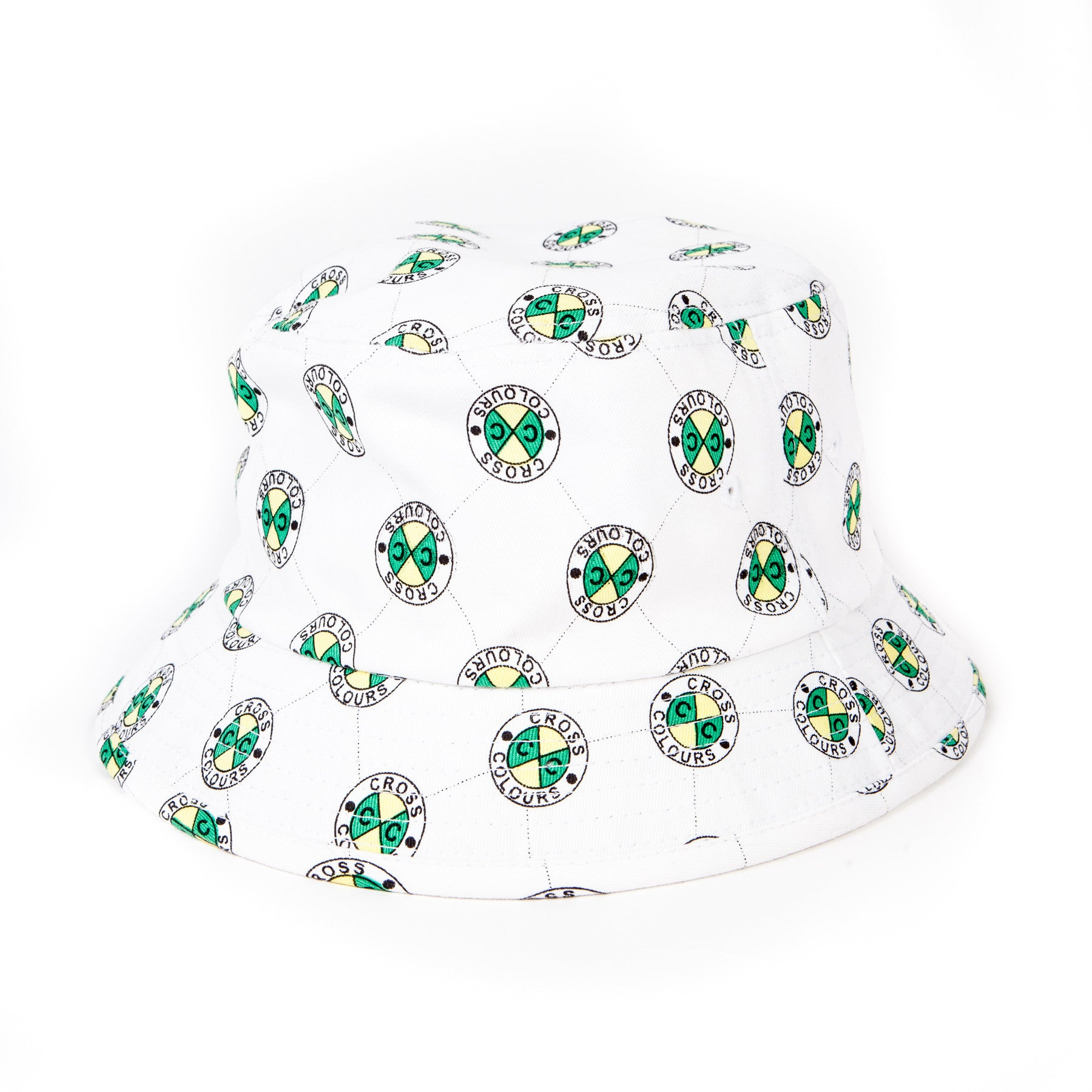 CXC ALLOVER BUCKET HAT - WHITE