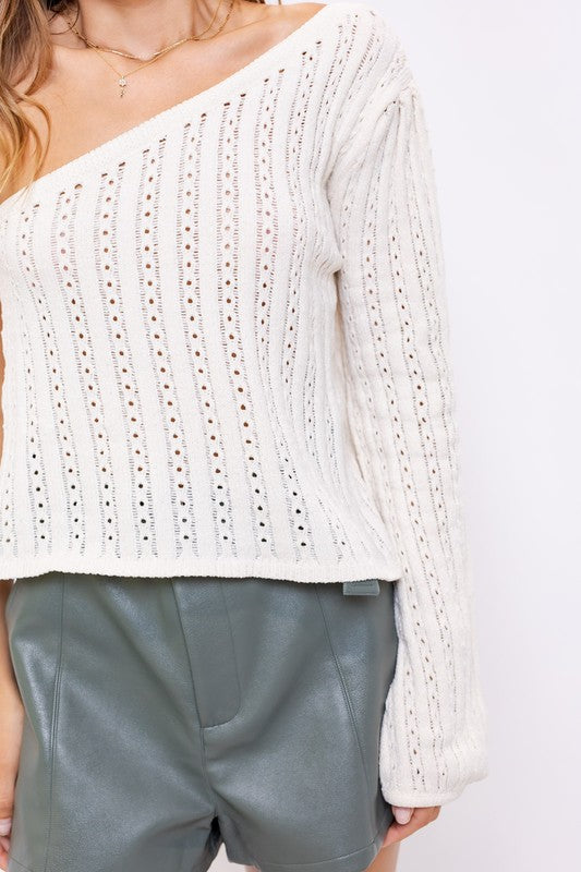 Sophia Off Shoulder Sweater Top