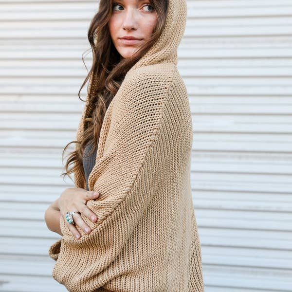 Homey Hooded Cardigan