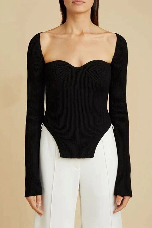 Sweetheart Squareneck Sweater