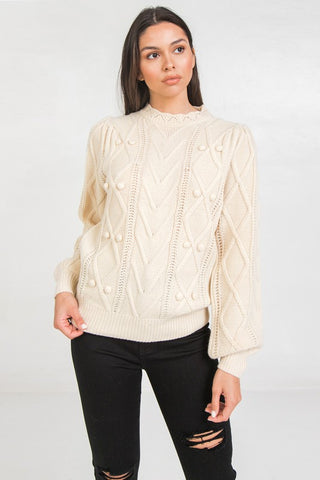 Ivory Multi Detail Sweater
