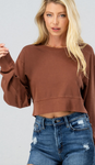 Dark Rust Cropped Sweatshirt