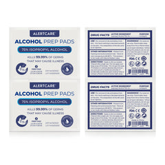 Alertcare Alcohol Prep Pads, 75% Alcohol Cotton Slices, 50 Pcs (Large Size) - Alert Care Inc