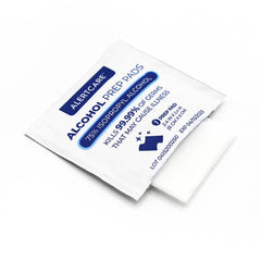 Alertcare Alcohol Prep Pads, 75% Alcohol Cotton Slices, 100 Pcs (Normal Size 2.4 x 2.4 in) - Alert Care Inc