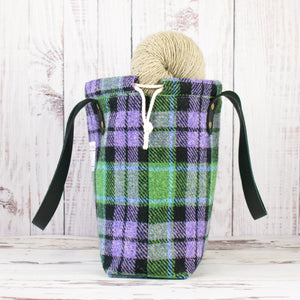 Green/Purple Plaid Project Bag