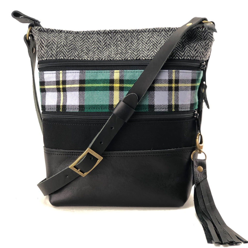 Custom Tweed and Tartan Crossbody Bag