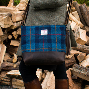 The Bonny Bag - Navy Tartan - Made to Order