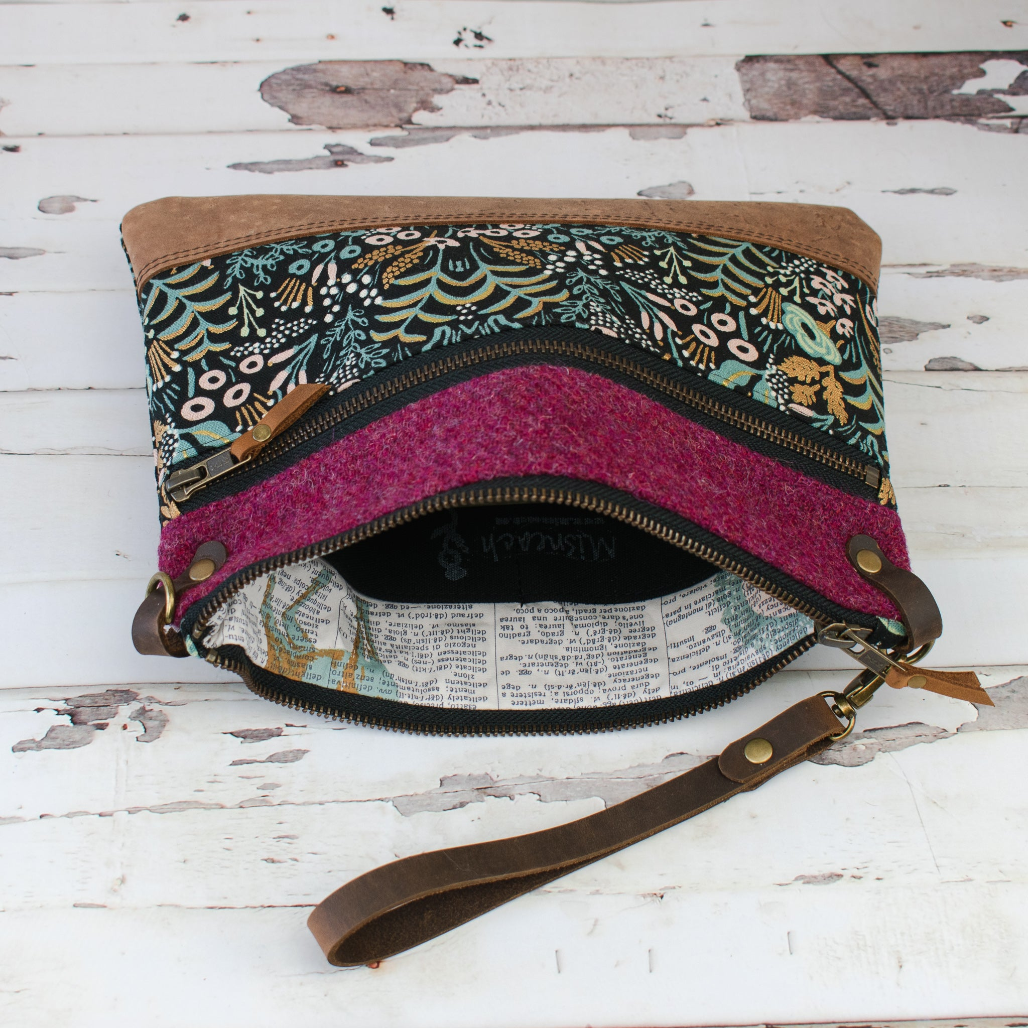 Aisling Bag - Raspberry/Menagerie - Made to Order