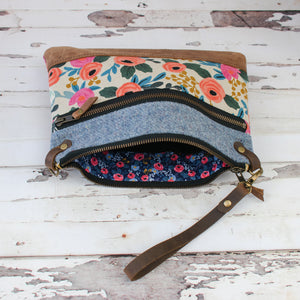 Aisling Bag - Cornflower Blue/Rosa