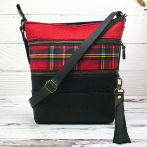 Tweed and Tartan Crossbody Bag - The Royal Stewart