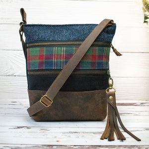Tweed and Tartan Crossbody Bag - The County Cork