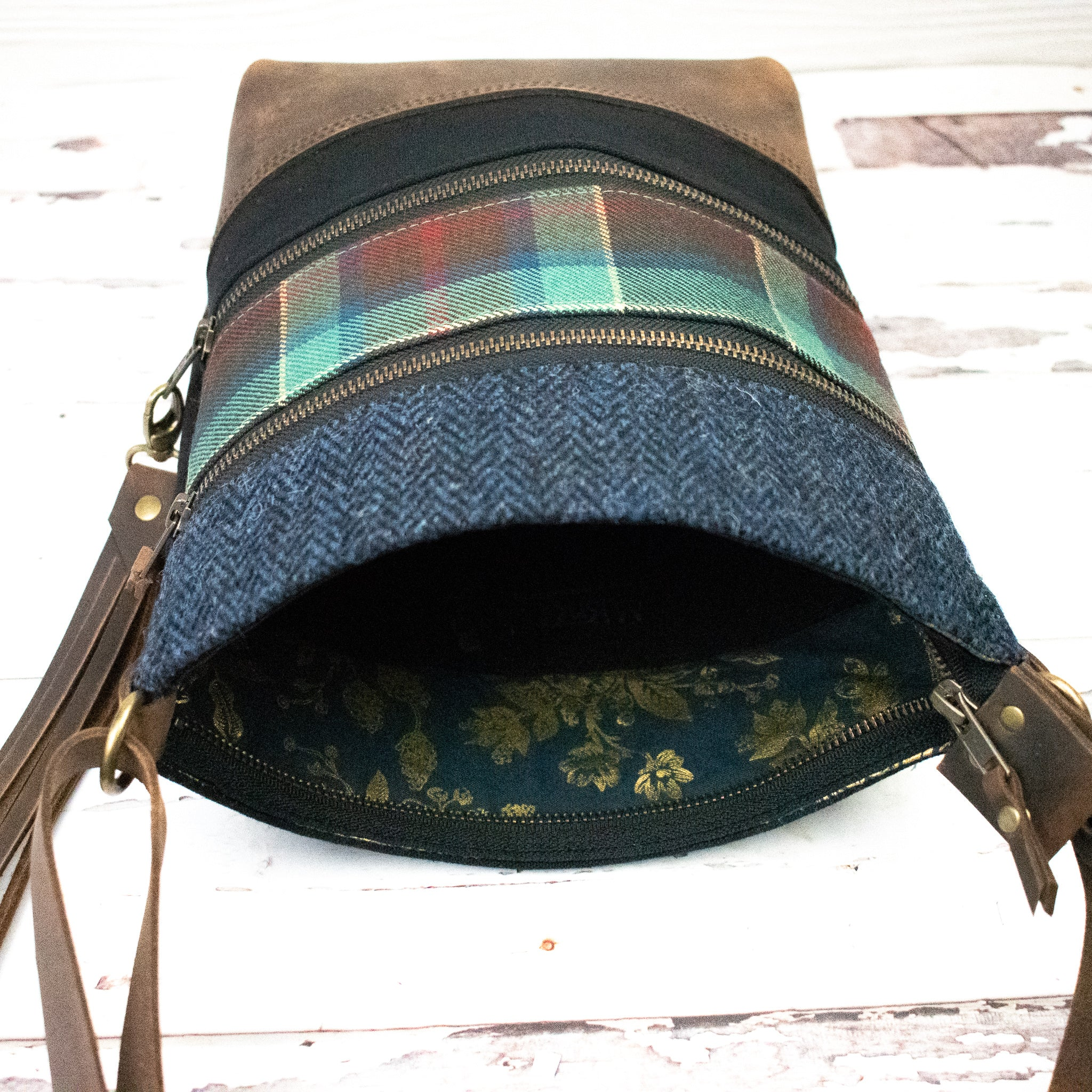 Tweed and Tartan Crossbody Bag - The County Waterford