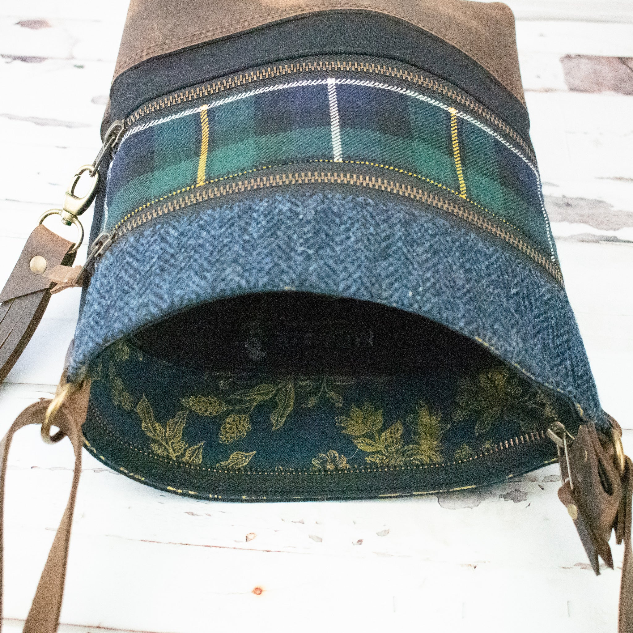 Tweed and Tartan Crossbody Bag - The MacNeil