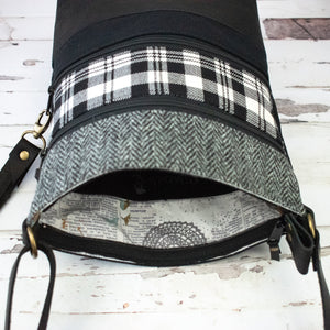 Tweed and Tartan Crossbody Bag - The Scott